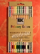 Primary Colors Memory Pencils
